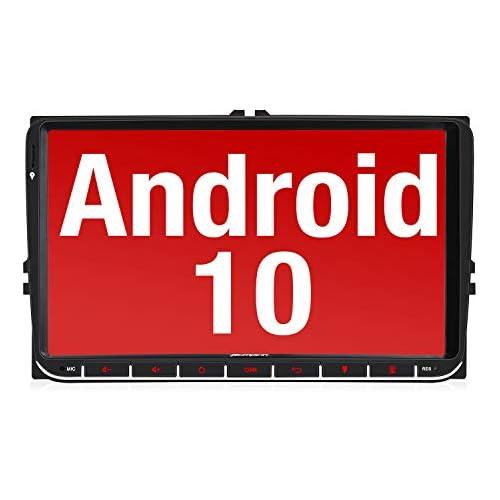 chollos oferta descuentos barato Pumpkin 9 Android 10 Radio Compatible para VW 2 Din Autoradio GPS navegador con Bluetooth Control Volante USB WiFi 4G Micro SD Mirror Link DAB