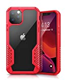 MOBOSI Vanguard Armor Designed for iPhone 11 Pro Max Case, Full Body Rugged Cell Phone Cases, Heavy Duty Military Grade Shockproof Drop Protection Cover for iPhone 11 Pro Max 6.5 Inch 2019, Red