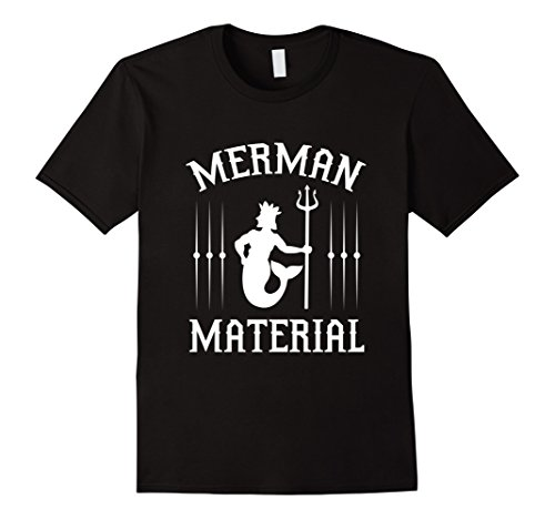 [Men's FUNNY MERMAN MATERIAL T-SHIRT Cool Gift Idea 3XL Black] (Creative Team Costume Ideas)