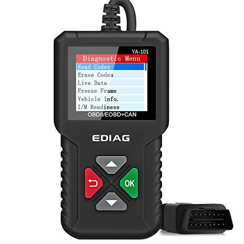 EDIAG OBD2 Scanner YA-101 Car Code Reader Checks Engine Light,O2 Sensor and EVAP Test Mode 8, On-Board Monitor Test Mode 6,Universal Enhanced CAN OBD2 Diagnostic Tool -Lifetime Free Update