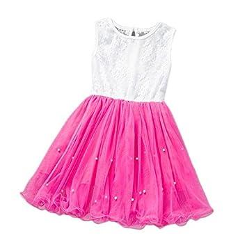 bef6eb0c6c354 キッズドレス 女の子 ベビー服 Yochyan 子供 ノースリーブ ドレス 子供服 プリンセスドレス 可愛い キュート 柔らかい ファッション