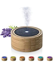 Medisana AD 625 Aromaverspreider, Bamboe en Houten Vernevelaar, voor Geparfumeerde Oliën, Geparfumeerde Lamp met Timer, 100 Ml