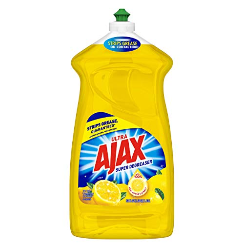 Ajax Ultra Triple Action Liquid Dish Soap, Lemon - 52 Fluid Ounce