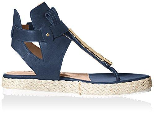 Chaniotakis Womens Thong Sandal Blue u3nB7RyA