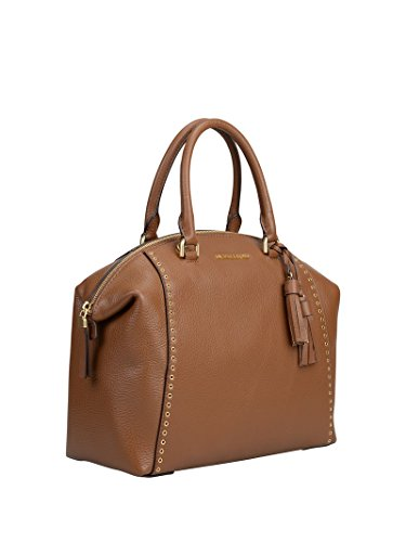 MICHAEL KORS sac Riley LG Satchel coloris caramel
