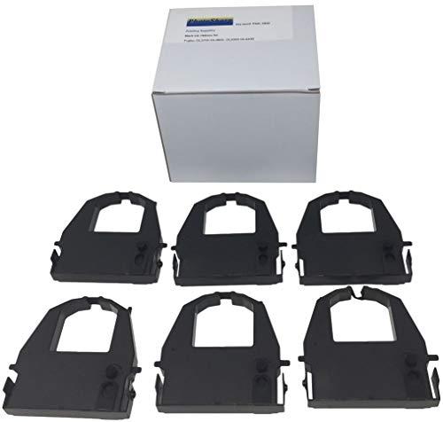 6 Black Compatible DL3800 DL-3800 Printing Ink Ribbon Cartridge Replacement for Fujitsu CA02374-C104 Pro POS dot Matrix Impact Monochrome Printer