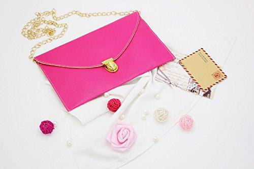 Women Rose Clutch lady Purse Gaorui Shoulder Tote Envelope Chain Handbag Evening Multicolors Bag U7q7wB