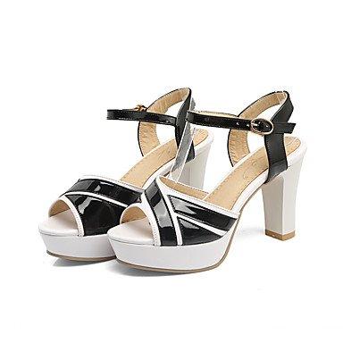 LvYuan Tacón Robusto-Zapatos del club-Sandalias-Oficina y Trabajo Fiesta y Noche Vestido-PU-Negro Azul Rosa Blanco Blue
