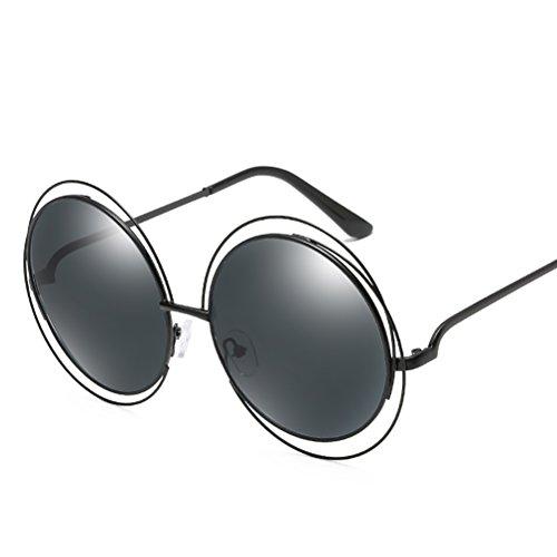 with Black de for soleil Zhhyltt Glasses Round grey Case sunglasses lunettes frame metal mens des womens all HwOw4qFv