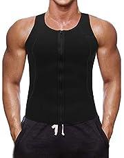 Litthing Chaleco Deportivo para Hombres Faja Reductora Sauna Camiseta Adelgazante Térmica Compresión Muscular Vest para Quemar Grasa Sudoración Gimnasio con Cremallera