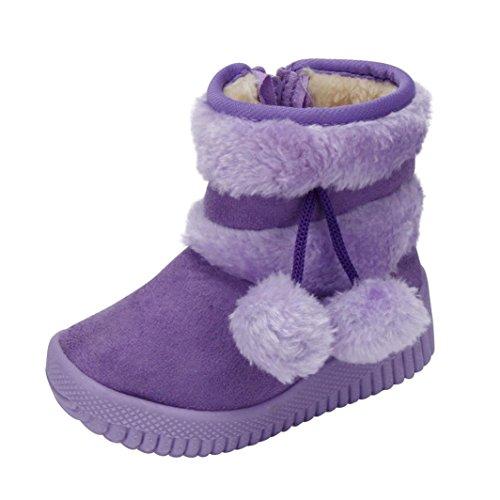 Huhu833 Kinder Mode Baby Stiefel Soft Sole, Keep Warm Schnee Stiefel, Kleinkind Stiefel Warm Schuhe (0-18 Month) Violett