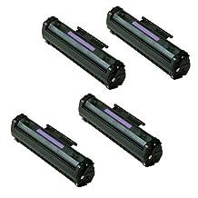 Amsahr C3906AR Remanufactured Replacement Toner Cartridge for HP C3906A, LaserJet 5L, 5ML, 6L, 4 Pack, Black Color