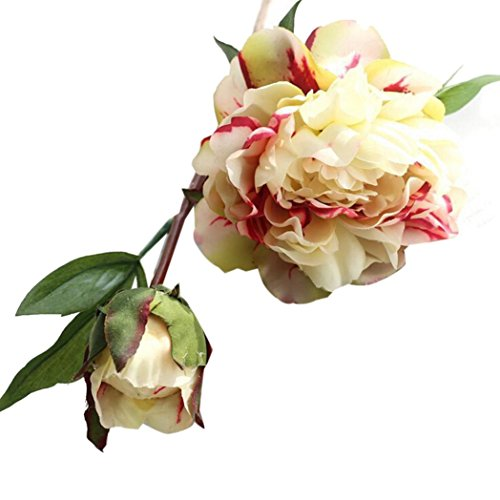 Flower Match Garden Patch (Hot Sale!!Peony Silk Flower,Artificial Fake Bouquet Wedding Party Home Garden Decor (light green))