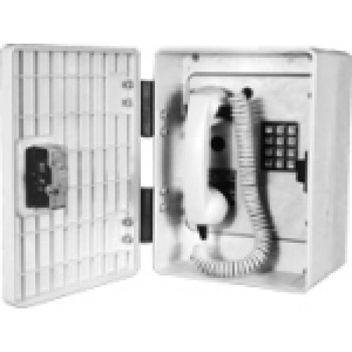 ***CALL FOR PRICING*** Outdoor Industrial Telephone w/ Armored Cord & Spring Kit - GAI-TRONICS 256-001ACSK