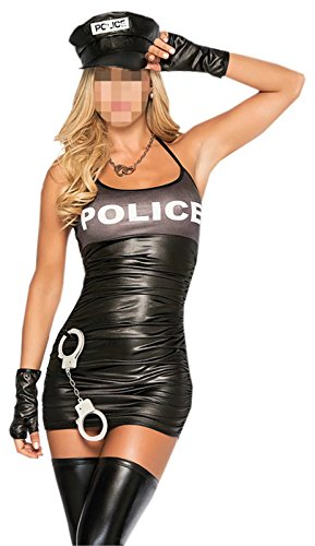 Betusline Women's Sexy Officer Costume Halloween Cosplay Temptation (Tyrion Lannister Halloween Costume)