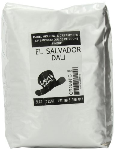 Larry's Coffee Organic Fair Trade Whole Bean, El Salvador Dali Blend, 5-Pound Bags