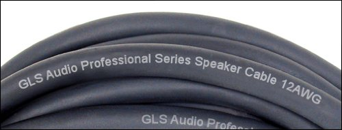 GLS Audio 100 feet Speaker Cable 12AWG 4 Conductor Patch Cords for Bi-Amp - 100 ft Speakon to Speakon Professional Cables 4C Black Neutrik NL4FX (NL4FC) 12 Gauge Wire - Pro 100' Speak-on Cord 12G 4 Cond - Single by GLS Audio (Image #1)