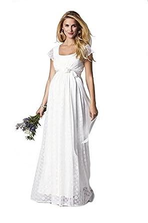 Tiffany Rose Damen Kleid Gr. 30, elfenbeinfarben: Amazon.de: Bekleidung