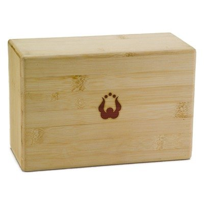 "Natural Fitness YBLOB4 4"" Bamboo Yoga Block"