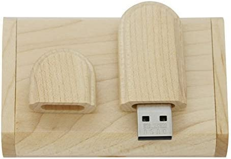 10PCS Maple Wood 2.0//3.0 USB Flash Drive with Wooden Box 3.0//128GB