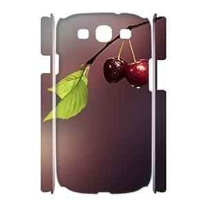 3D Vety Cherry Samsung Galaxy S3 Cases Two Cherries, Cherry [White]