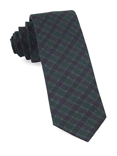 Green Wool Knit Ties (The Tie Bar 100% Printed Wool Wentworth Plaid Hunter Green 2 Inch Tie)