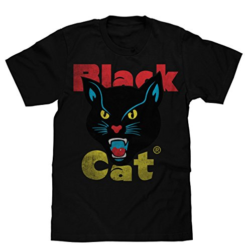 Black Cat Fireworks Licensed T-Shirt | Poly Cotton Blend | Classic Look