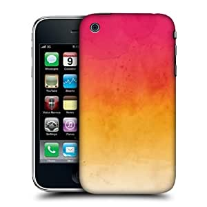Head Case Designs Pink And Yellow Watercoloured Ombre Hard Back Case Cover For Apple iPhone 3G 3GS
