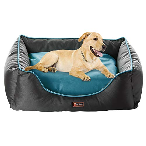 UFBemo Orthopedic Dog Bed - Snuggly Sleeper Lounge Sofa Removable Ultimate Pet Dog Bed, Padded Rim Cushion and Nonslip Bottom for Medium & Large Dogs & Cats ()