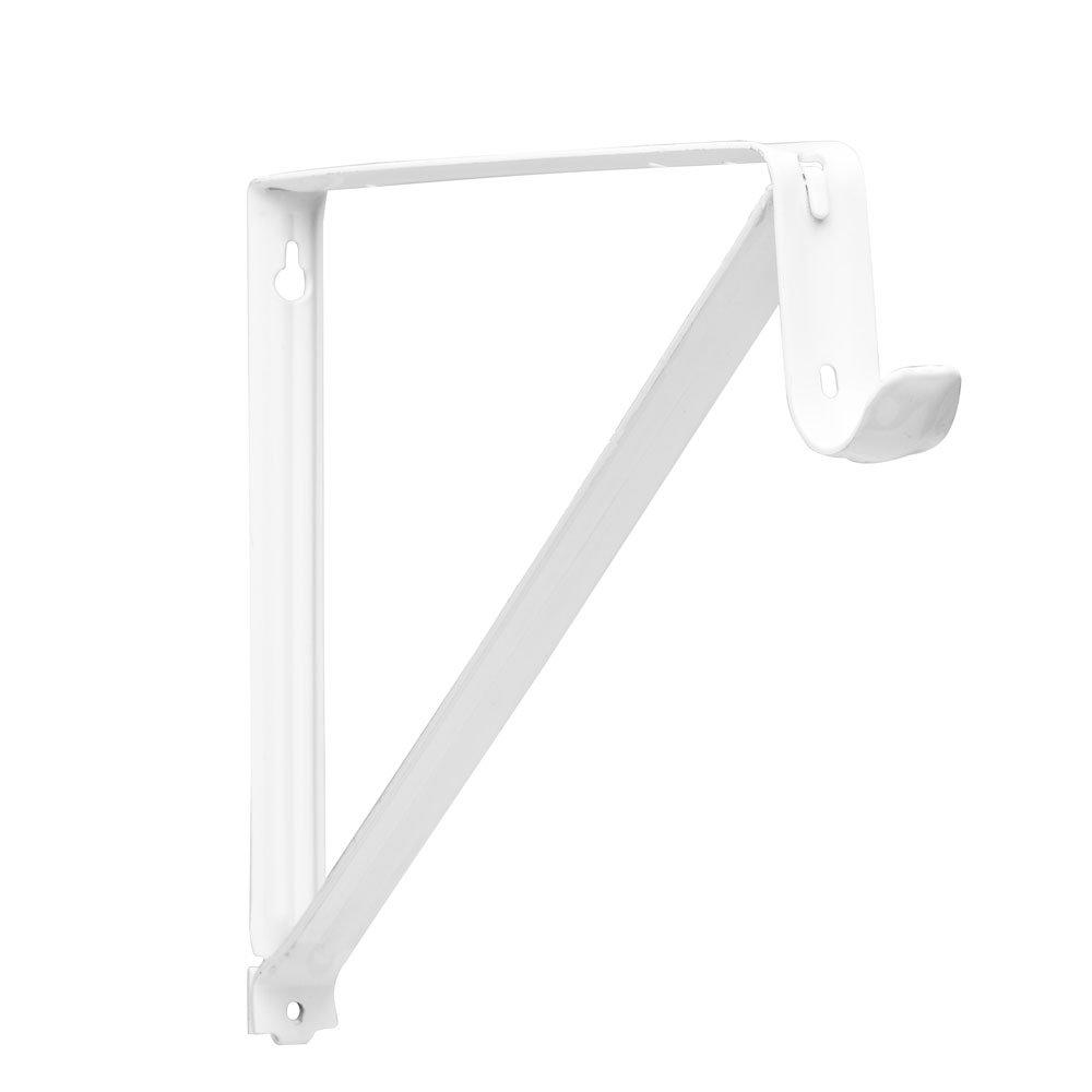 Knape & Vogt, White Pro RP-0045-WT Shelf and Rod Closet Bracket