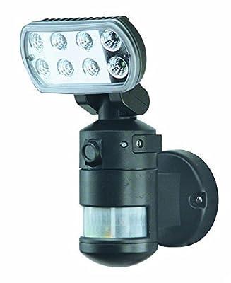 Versonel VSLNWP702B Nightwatcher Pro Motorized LED Security Motion Tracking Flood Light with Camera,Black