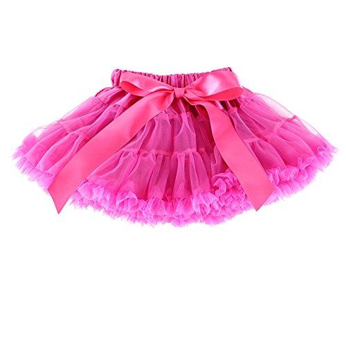 (Wennikids Little Girl's Dance Chiffon Pettiskirts Tutu Assorted Size and Color Large Hot Pink)