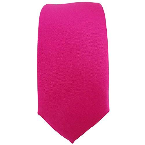 étroit TigerTie Designer cravate en pink rosé unicolor - Tie