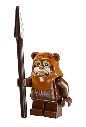 (LEGO Star Wars Ewok Wicket minifigure with spear from Ewok Village)