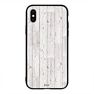 iPhone XS Max White Wooden Pattern