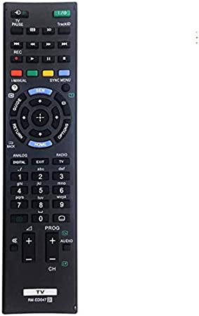 MYHGRC Nuevo Control Remoto de reemplazo de TV RM-ED047 para Sony Bravia TV Adecuado para Sony Smart LCD LED TV- No Requiere configuración Control Remoto Universal: Amazon.es: Electrónica