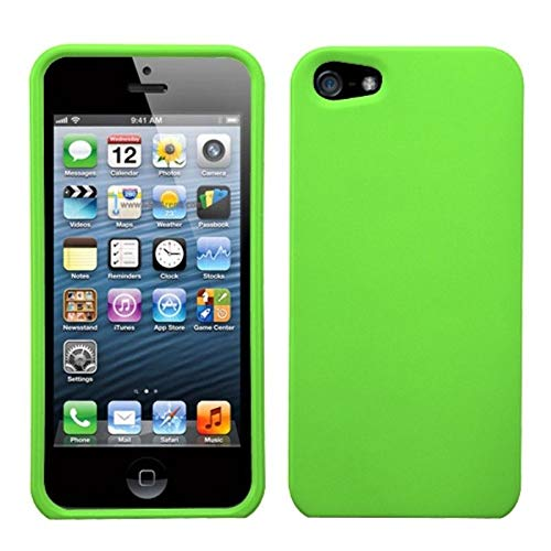 Insten Rubberized Hard Snap-in Case Cover Compatible with Apple iPhone 5/5S/SE, Green