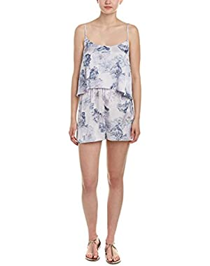 BCBGeneration Womens Small Popover Floral Print Romper Purple White Small