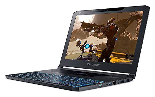"Acer Predator Triton 700 PT715-51-71W9 Gaming Laptop,15.6"" FHD 120Hz G-SYNC Display, i7-7700HQ,Overclockable GeForce GTX 1080 8GB MAX-Q Design, 32GB DDR4, 512GB PCIe NVMe SSD, RGB Mech KB (Renewed)"