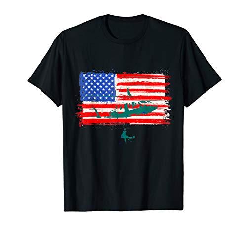 - Medical Helicopter USA Flag Shirt Flight Medic T-Shirt