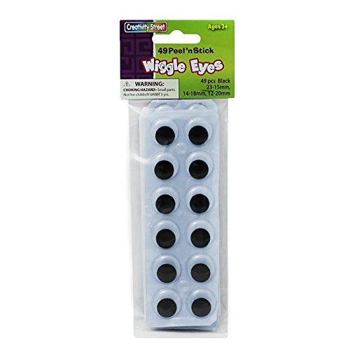 CHENILLE KRAFT COMPANY PEEL N STICK WIGGLE EYES ON SHT (Set of 12)