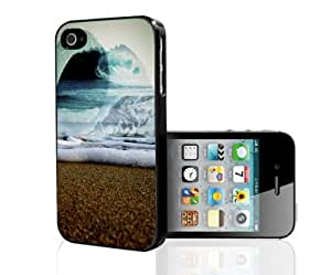 Abstract Ocean Art Hard Snap on Phone Case (iPhone 4/4s)