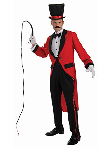 Men's Ringmaster Costume, Red, One -