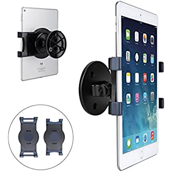 """AboveTEK iPad Wall Mount, Swivel 360° Rotating Tablet Holder w/ two Brackets to Fit 6-13"""" Tablets, Horizontal/Vertical Tilt iPad Arm for Flexible Viewing Angles in Kitchen House Showroom Retail Store"""