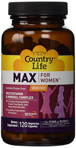 Maxine Maxi-Sorb Iron-Free 120 Vcaps by Country Life