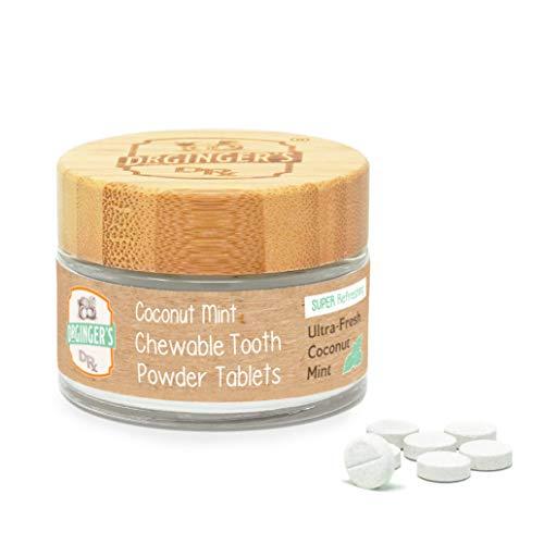 Dr Ginger's Toothpaste Tablets, 1.27 oz Jar, 60 Tablets