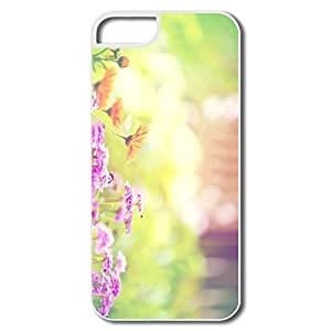 IPhone 5/5S Case, Marigold Lilac Purple Flowers Cases For IPhone 5S - White Hard Plastic