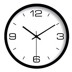Imoerjia Home Wall Clock, Corporate Office, Black and White Wall Clock Quartz Clock Wall Clock C