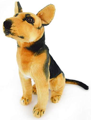 VIAHART Gunther The German Shepherd | 16 Inch Large German Shepherd Stuffed Animal Plush Dog | by Tiger Tale Toys