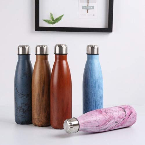 ZHAOLV 500ML Water Bottle Vacuum Insulated Flask Thermal Sport Chilly Hot Cold Cup (Capacity : 500ml, Color : G)